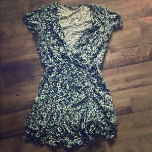 Zara green floral dress